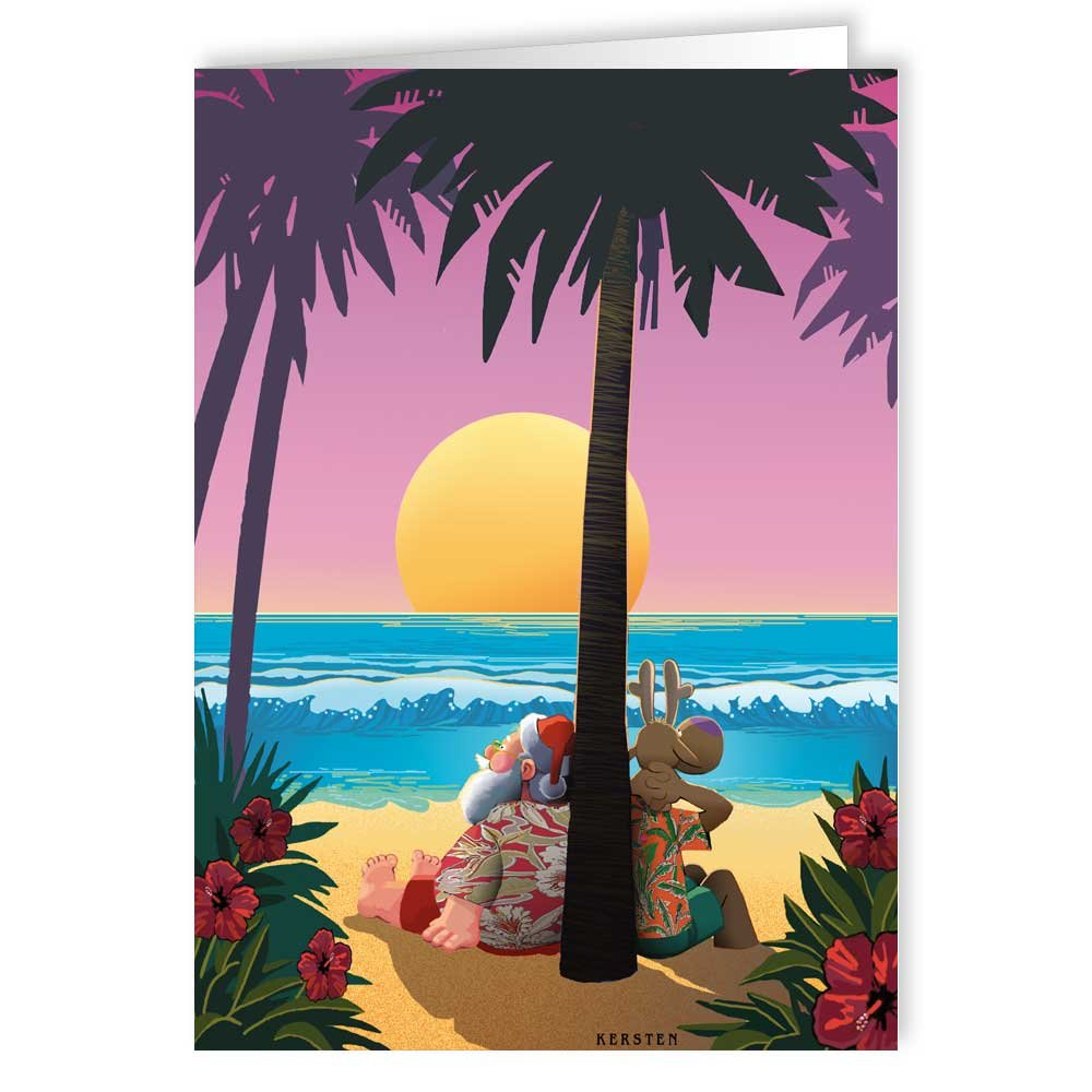 amazoncom tropical sunset christmas card beach 18 cards and envelopes health personal care - Beach Christmas Cards