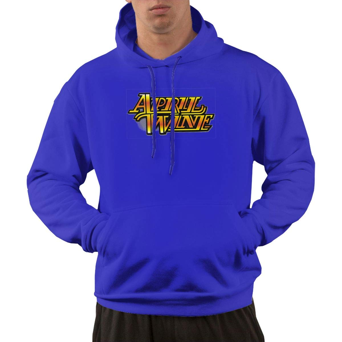 Erman S Pullover Retro Blue Print April Wine Logo Cool Hooded Shirts With Pocket 3