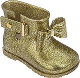 Mini Melissa Sugar Rain Bow Mary Jane (Toddler), Gold Glitter, 7 Regular US Toddler