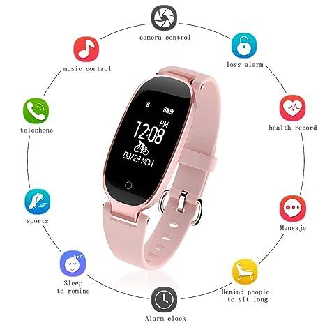 {Cadeau Saint-Valentin}Montre Connectée Femme TECKEPIC Bracelet Intelligent Etranche IP67 Montre Bluetooth de Sport avec Moniteur de Fréquence de Cardiaque ...