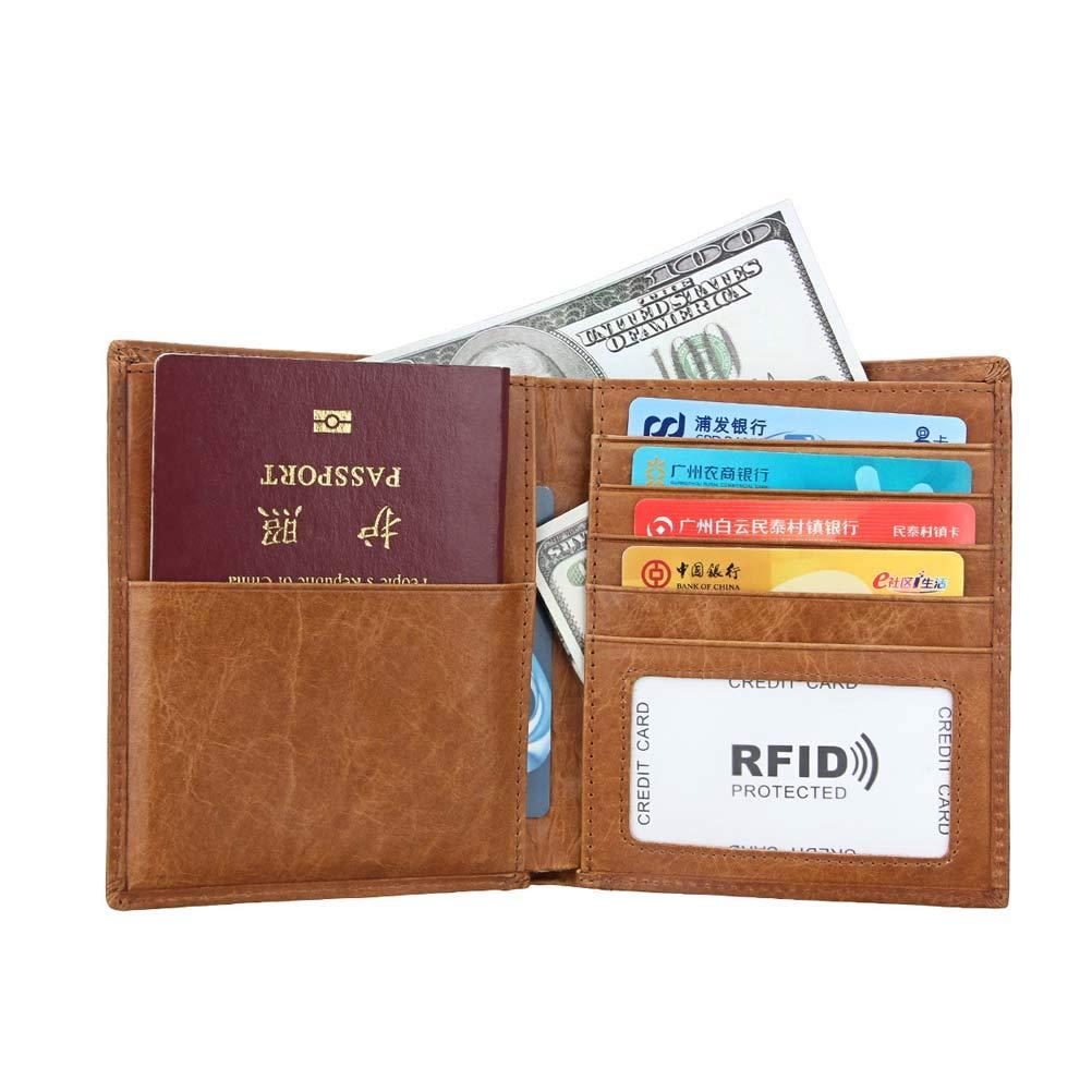 WngLei RFID Männer Und Frauen Frauen Frauen Brieftasche Kartenhalter Passinhabers multifunktions Reisepass ID-Kartenhalter (Farbe   Blau) B07L7P2LYK Geldbrsen 7f998f