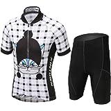 LSERVER Children Unisex Boys  Girls  Cycling Jersey Set ( Short Sleeve + 3D  Padded f86a2d7c3