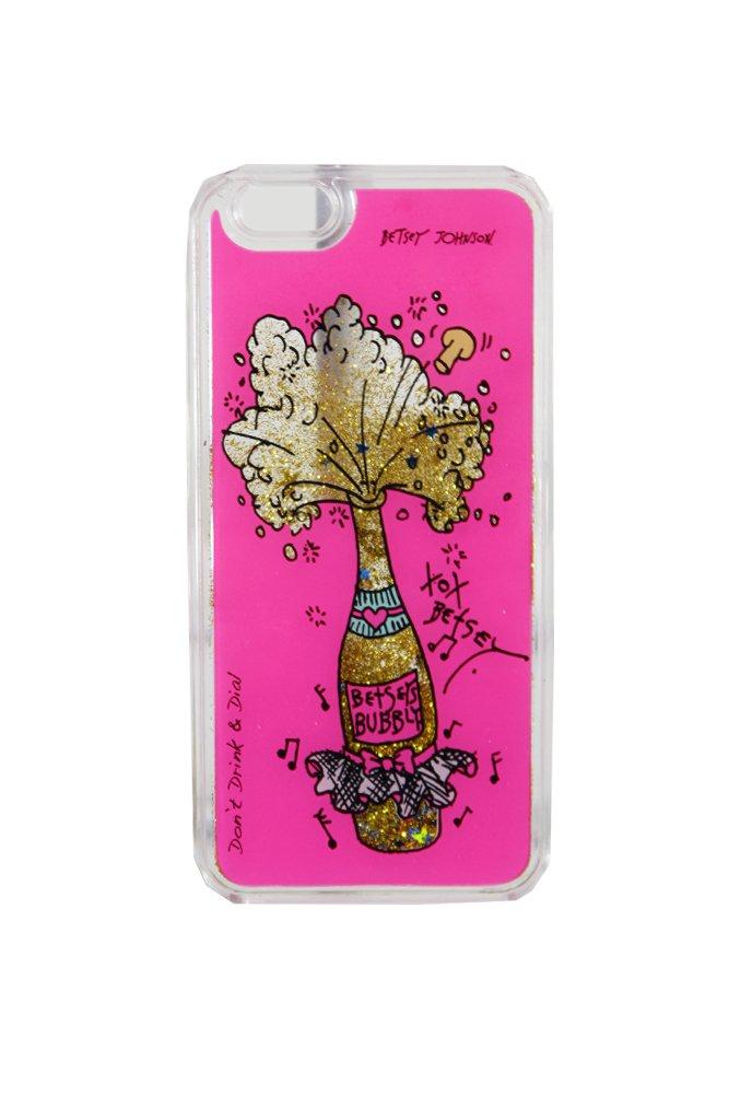 Betsey Johnson Fuchsia Champagne Graphic Iphone