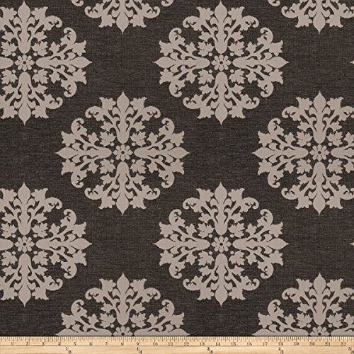 Trend 03820 Chenille Graphite Fabric by The Yard
