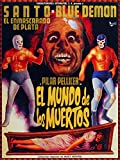 Short Run Posters 24''x36'' Poster home decoration.Santo vs Blue Demon.Mexican Wrestling fight.11207