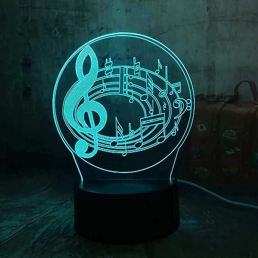 Orangeww Lámpara de ilusión visual 3d / mesa táctil Lámpara de ...