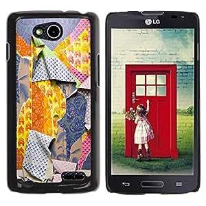 Be Good Phone Accessory // Dura Cáscara cubierta Protectora Caso Carcasa Funda de Protección para LG OPTIMUS L90 / D415 // Ripped Patterns Deep Fashion