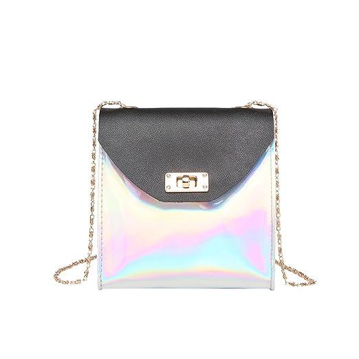 Practical Women Crossbody Bag Flap Dating Hasp Purse Pu Leather Single Shoulder Party Handbag Mini Metal Chain Casual Messenger Bags Tote~ Reasonable Price Women's Bags Top-handle Bags