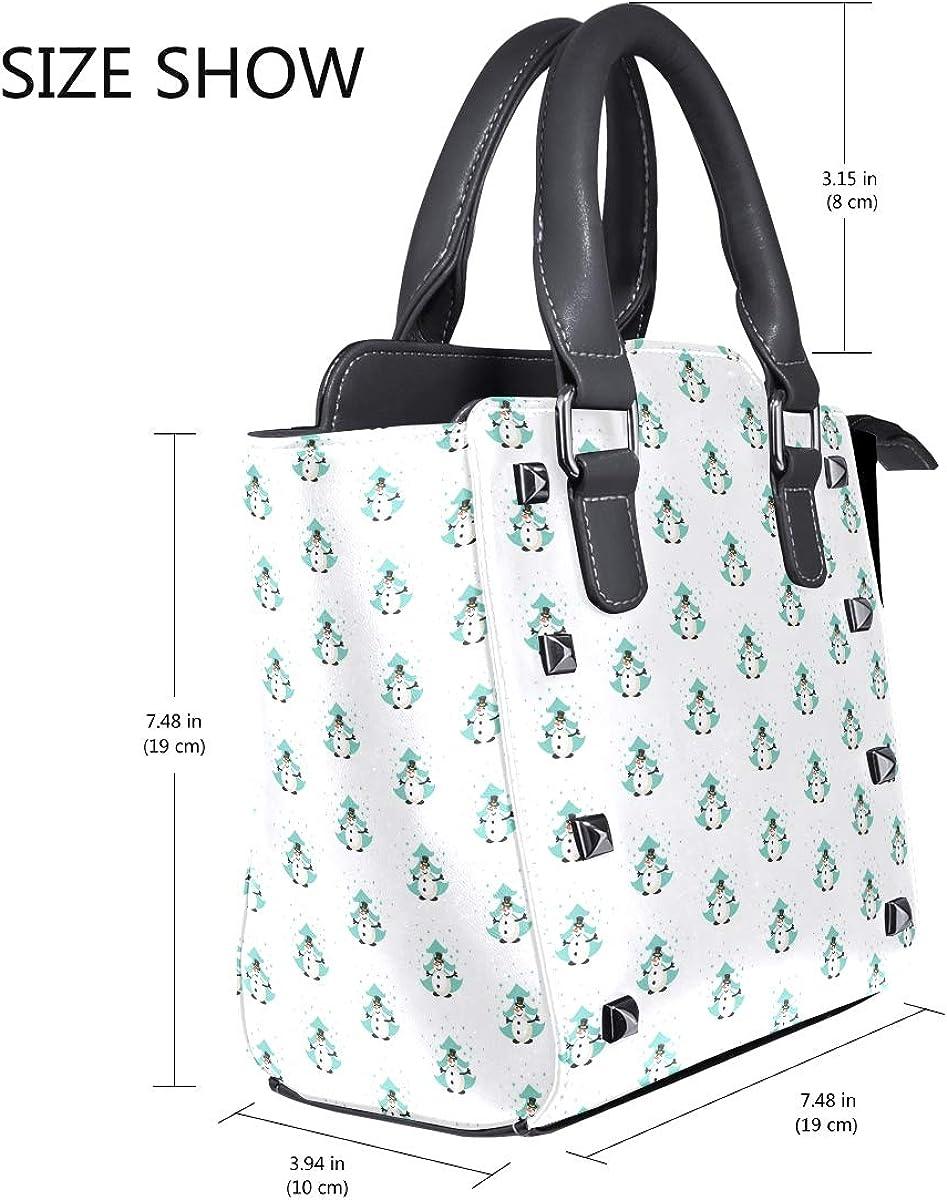 Fiber Optic Christmas Tree Snowman Womens fashion Handbags Shoulder Bags Handle Satchel