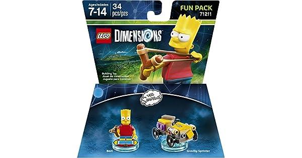 Amazon.com: LEGO Dimensions, Simpsons Bart Fun Pack: Video Games