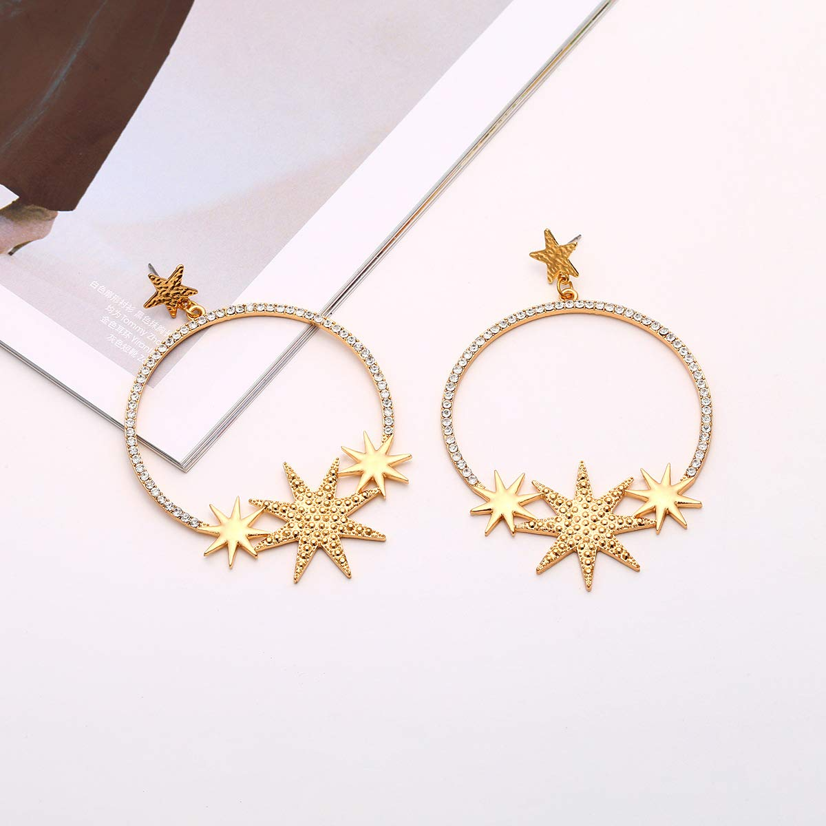 JXVLUYE Charm Earring for Women Girls Great Gifts for Women Girls Stars Earrings