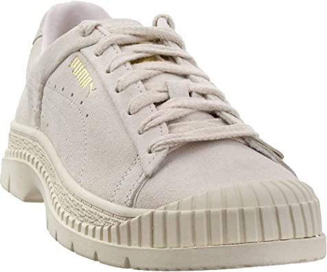 Amazon.com   PUMA Womens Utility Suede Lace Up Sneakers Shoes Casual - Off  White   Fashion Sneakers