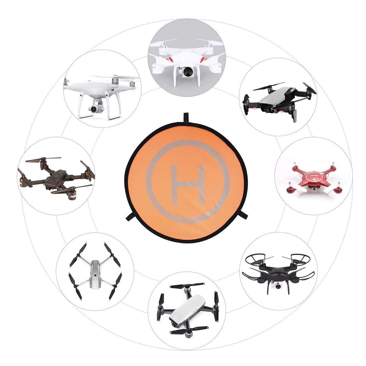 Lorenlli 55 cm Fast-Fold Landing Pad Universal FPV Drone Delantal de estacionamiento Plegable Pad Fit para dji Spark Mavic Pro FPV Racing Drone Accesorio