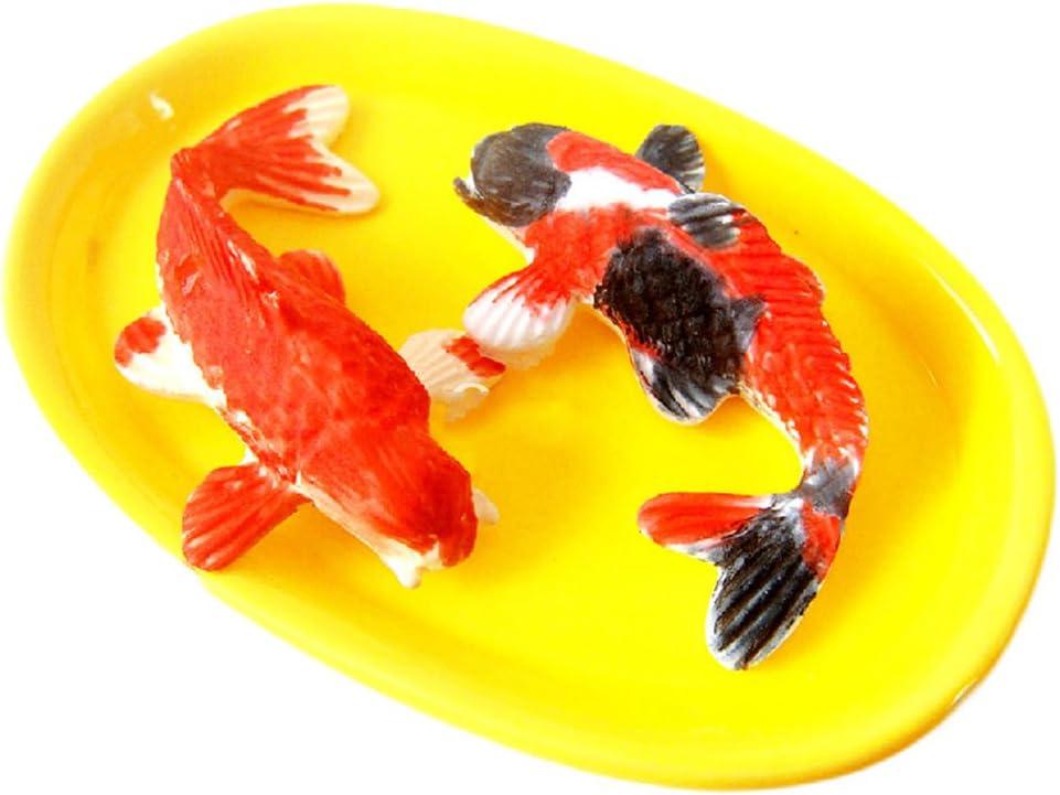 -moldfun Karpfen Fisch Zucker Craft Silikon Form f/ür Kuchen//Cupcake Dekorieren Polymer Clay Gum Paste Kleine Gr/ö/ße Koi Fisch Fondant Form 6,3/x 3,6/cm