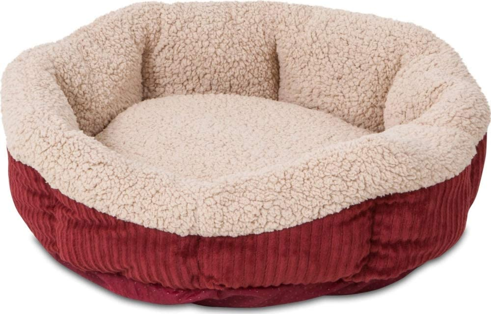Aspen Pet Self-Warming Corduroy Pet Bed Several Shapes Assorted Colors : Pet Supplies