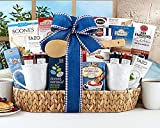 Gourmet Foods Gift Baskets, Good Morning Breakfast Assortment, This Breakfast Tray Is Brimming with Don Francisco's French Roast Coffee, Dark Chocolate Wafer Cookies, Rocky Mountain Chocolate Factory Milk Chocolate Hot Cocoa, Amaretti Cookies, Sticky Fing