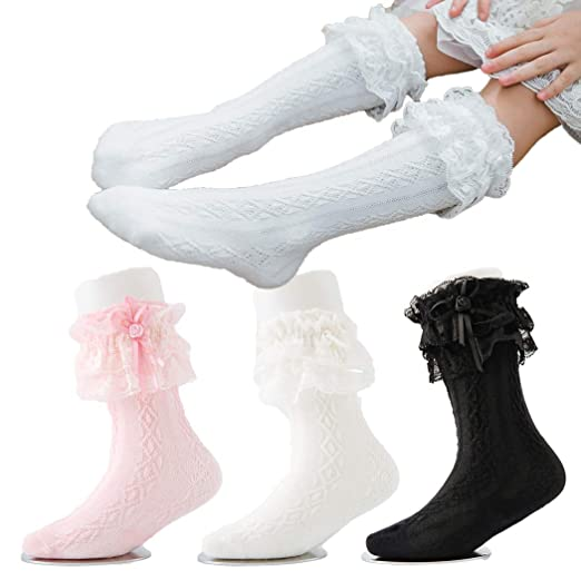 561b3a17206ba Amazon.com: Colorful Childhood Girl's Lace Ruffle Socks Baby Frilly ...