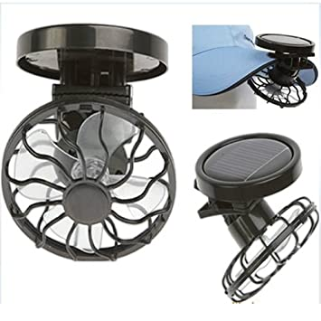 Distinct Mini Clip-on Solar Cell Fan Energy Saving Sun Power Energy Panel  Outdoor Cooling Cooler