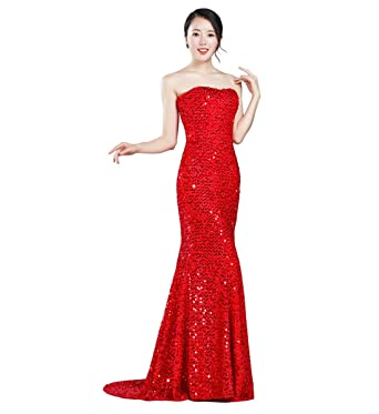 Squined Mermaid Tail Long Evening Dresses For Women Wormal Party Weddings Guest