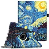 ipad 2 case auto sleep wake - Fintie iPad Air 2 Case (2014 Release) - 360 Degree Rotating Stand Protective Case Smart Cover with Auto Sleep / Wake Feature for Apple iPad Air 2, Starry Night
