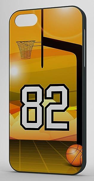 Fan de baloncesto jugador número 82 Funda iPhone 5/5S (con ...