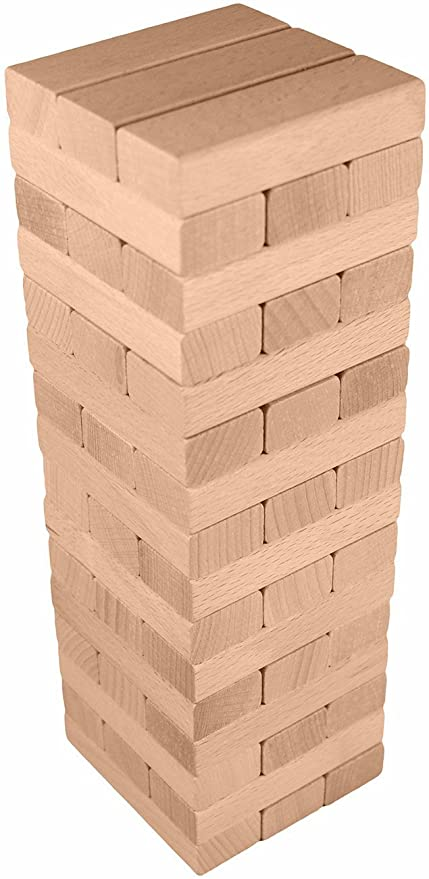 Large Wooden Tower Stacking Game  Pieces