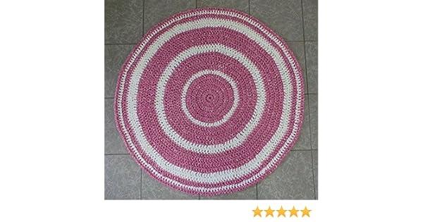Alfombra Trapillo - Bicolor Rosa y Blanca