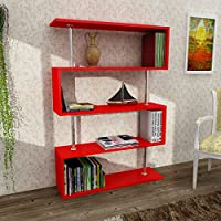 Universal Rugs DKRB1113 Bliss Bookcase, 35 x 51 x 10 , Red