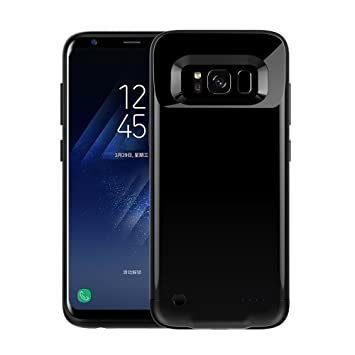 190/5000 Galaxy S8 Battery Case - Galaxy S8 Ultra Thin Battery Case [Negro], Cargador Case 4200 mAh Extended Backup Battery Juice Pack Funda de carga ...