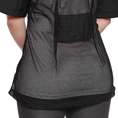 - Mesh Back Salon Jacket Black 2 pockets zipper (2X-Large, Black)
