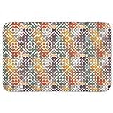 Happy Star Bingo Bathroom Rugs: Memory Foam (24 X 36 inch) Incrediby Soft Memory Foam Spa Quality
