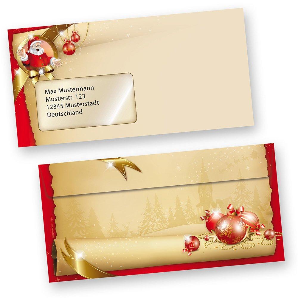 Briefumschläge Weihnachten Santa Claus 500 Stück DIN DIN DIN lang mit Fenster stimmungsvolle Umschläge für Briefe und Einladungen, beidseitig bedruckt B00NNVTWKM | Zu verkaufen  a72a08