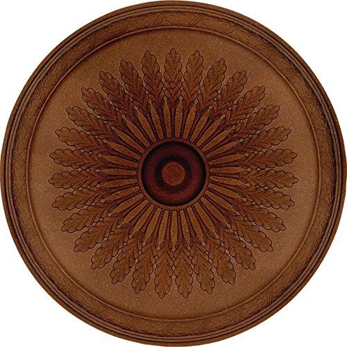 Ekena Millwork CM36JUPOS Juniper Ceiling Medallion, 36' x 1-1/2, Polished Copper