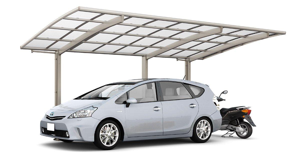 LIXIL ネスカ R レギュラー 延長24-5014型 W2400×L6392 標準柱H22 ポリカーボネート屋根材 ブラック  ブラック B07FKSWW8Q