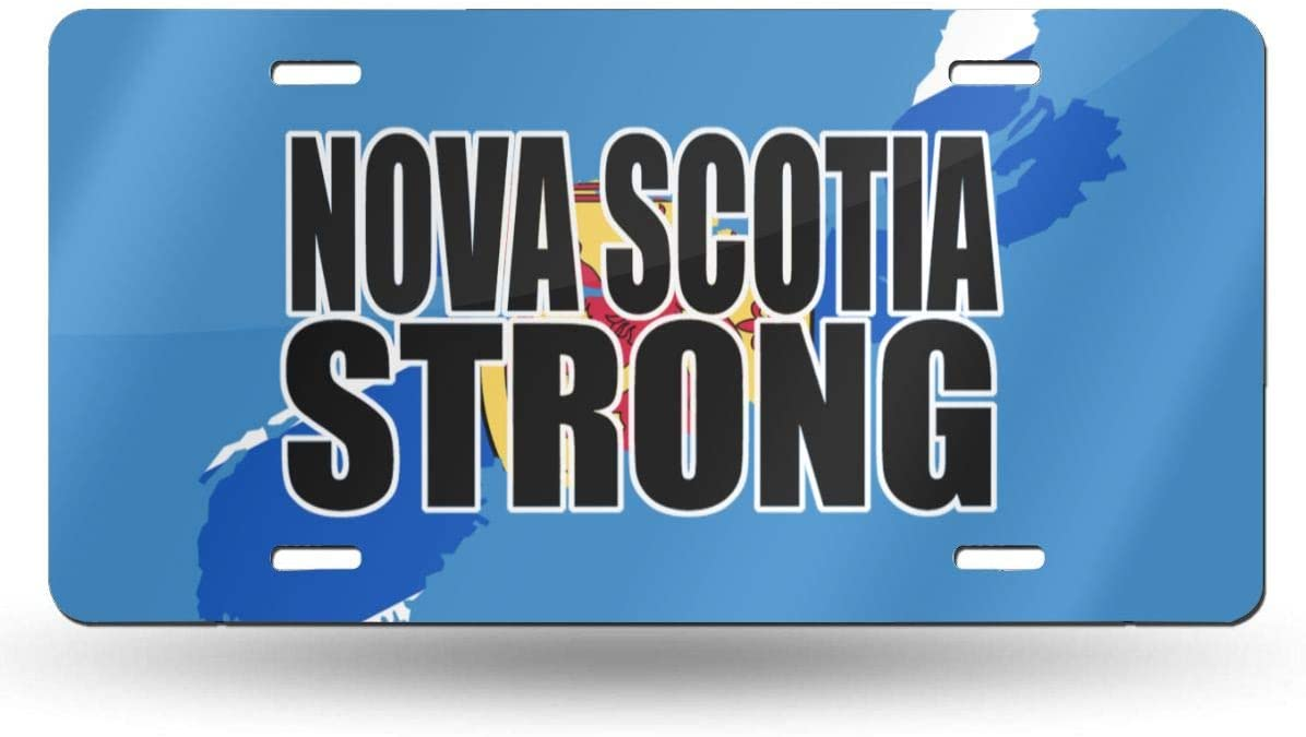 Nova Scotia Strong Metal License Plate Vanity Car Plate Car Tags 6 X 12