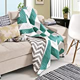 Premium Reversible Quilted Throw Blankets Chevron Design 50