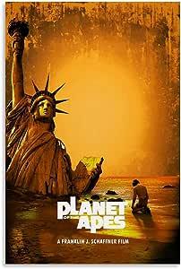 SDFGSD Póster clásico de la película El planeta de los simios Pintura decorativa lienzo arte de la pared Carteles de la sala de estar Pintura del dormitorio