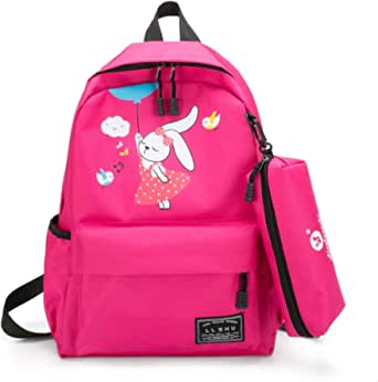 Women's Backpack Simple Preppy Canvas Backpack Interior Zipper Pocket Bags Structure
