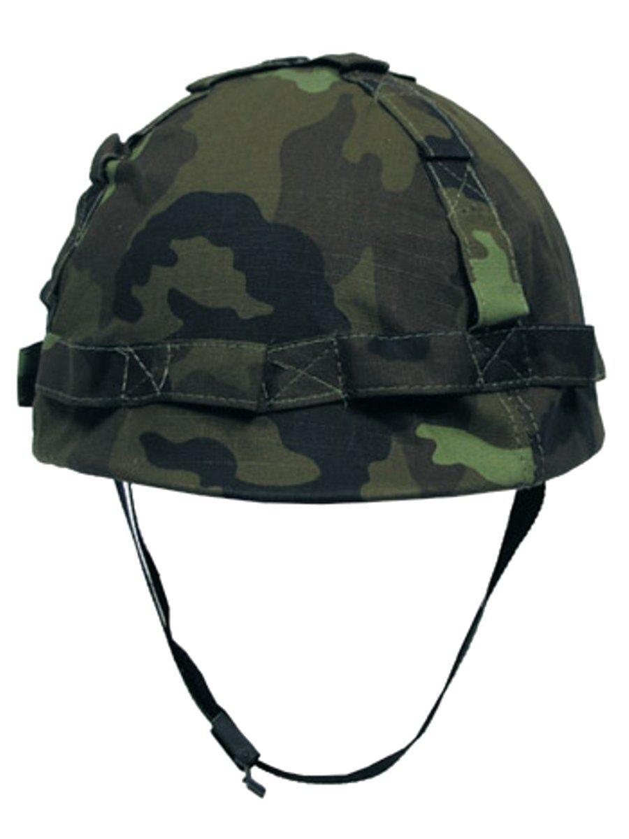 Militä r a US Casco con Funda de Tela CZ Camuflaje Militär a