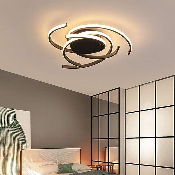 regulable para sal/ón decorativa Moderna l/ámpara de techo de cristal LED de 72 W de lujo balc/ón o pasillo 3 anillas