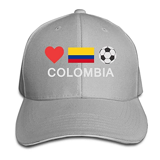 TB92ed CW Men s and Women s Casual Colombia Football Colombia Soccer Peaked  Hat Cotton Duckbill Cap for Mens 54d6c2a9afc