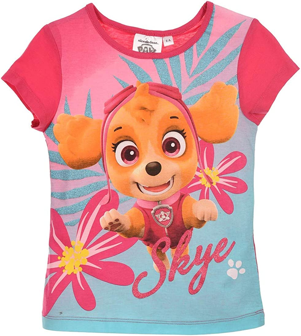 Paw Patrol Official Ages 3-8 Kids Boys Girls Childrens T-Shirt