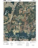 Tennessee Maps   2010 Fort Pillow, TN USGS Historical Topographic Aerial Map  Fine Art Cartography Reproduction Print
