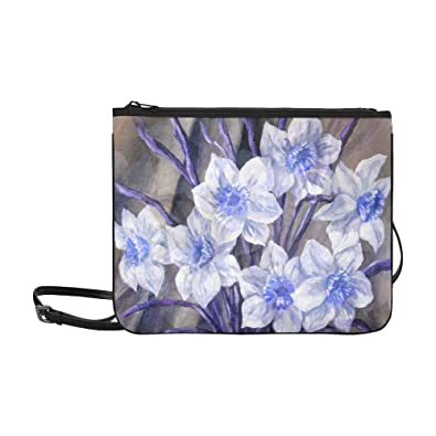 0895b1d7d5fc Picture Still Life Blue And White Flowers Bouque Pattern Custom High ...