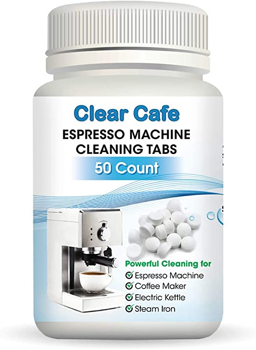Amazon Com Espresso Machine Cleaning Tablets Coffee Maker Cleaning Tablets 50 Count Compatible With Breville Jura Miele Keurig Krups And More Kitchen Dining