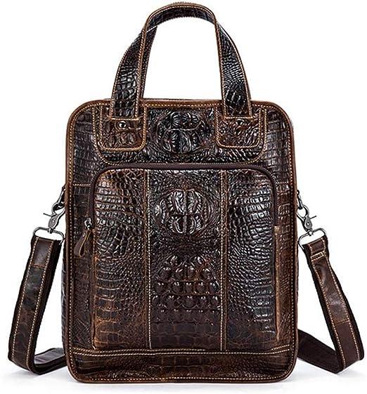 Maletín para hombre, bolso de mensajero de cocodrilo para hombre, bolso de cocodrilo para el hombro para hombre, ipad, Tablet, ipad, bolso para hombre