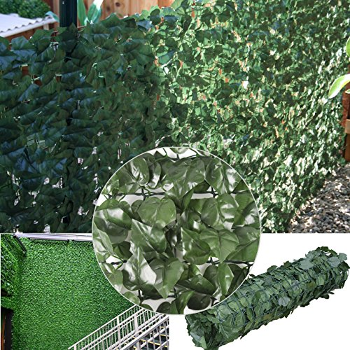 Synturfmats Faux Artificial Ivy Leaf Hedge Fencing Privacy Fence Screen Indoor/Outdoor Decoration Panels, 3.3x10ft