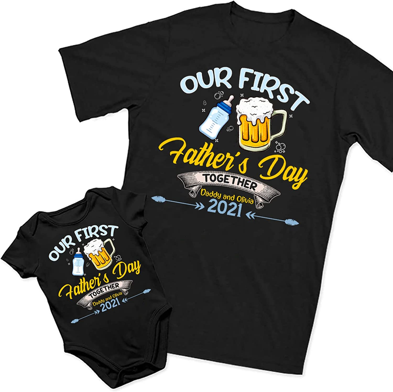 Father Daughter Matching t-shirts New Dad Daddy Baby Birthday Christmas Gift