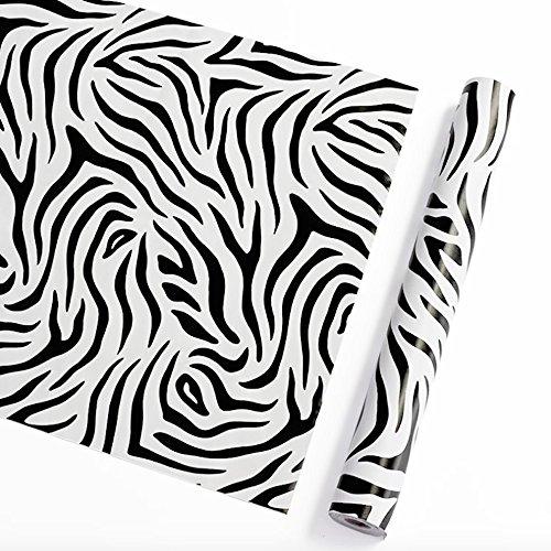 SimpleLife4U Self Adhesive Contact Paper Moisture Proof Shelf Liner 300cm,Zebra Stripe Valentine's Day Gift