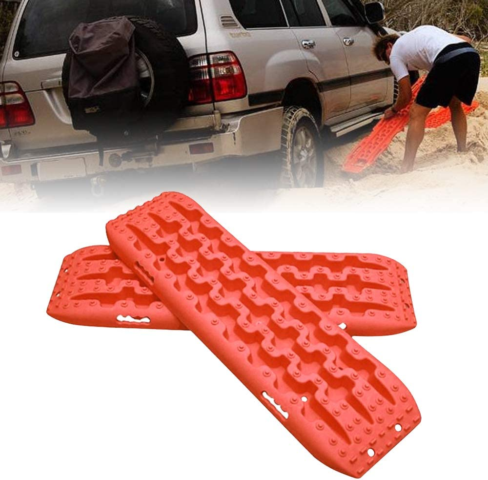 Recovery Traction Mats for Off-Road Mud Set of 2 Sand Black Snow Vehicle Extraction FIREBUG Recovery Track